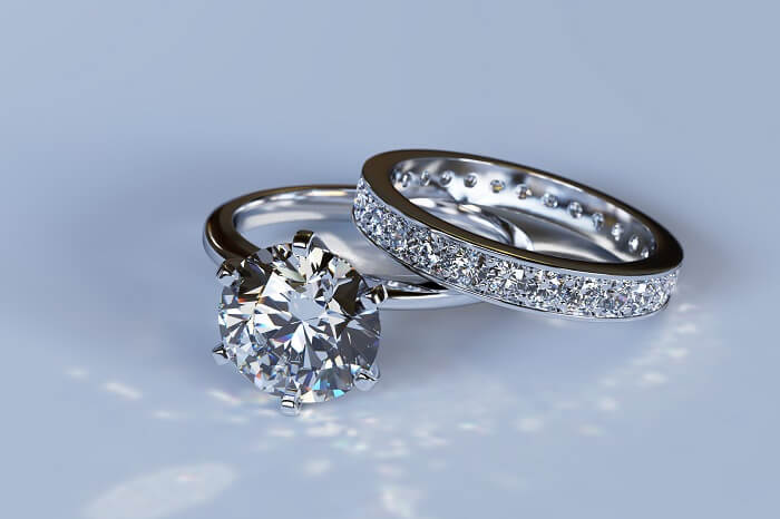 bridal wedding ring set